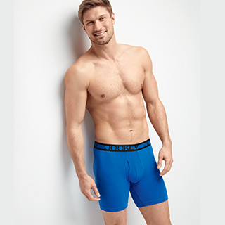Man wearing Cotton Performance Boxer Briefs