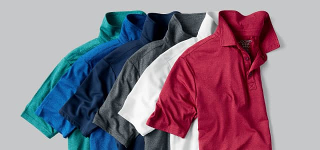 Laydown of performance polos
