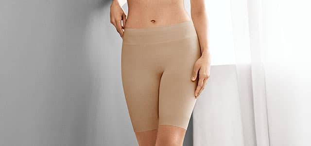 Woman wearing skimmies slip shorts