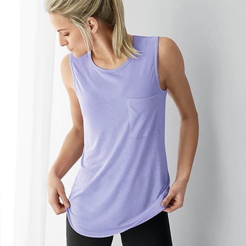 Woman wearing the Muscle Tank